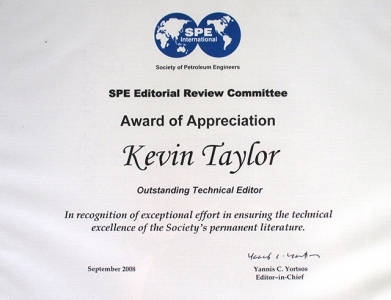 Outstanding Techical Editor - 2008